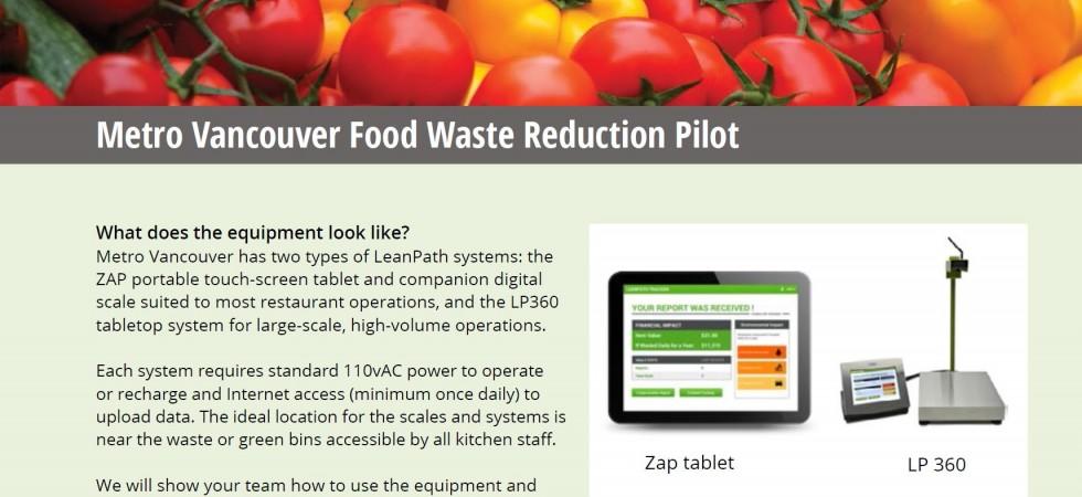 Food waste reduction pilot