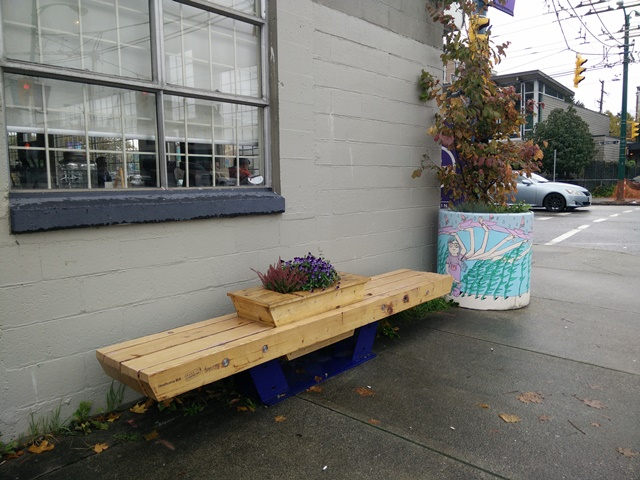 Bench at 901 E Hastings Street