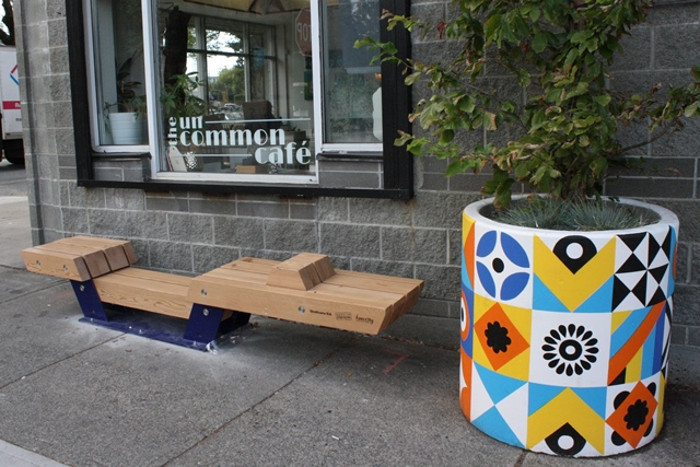 Bench at 477 Powell Street