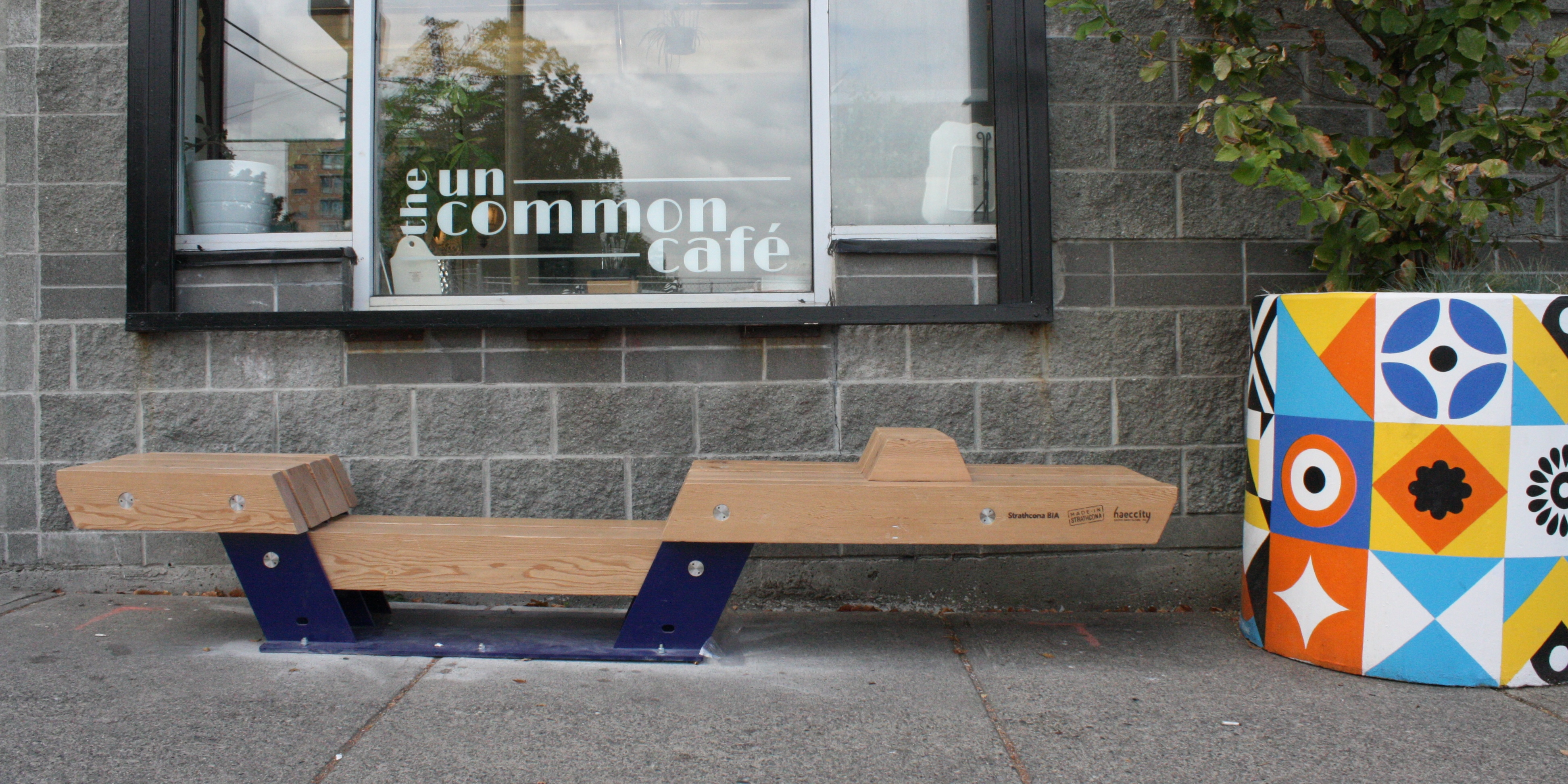Community Bench at the Uncommon Cafe