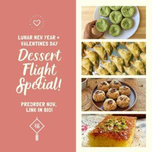 Happy Woman Kitchen Dessert Flight Special