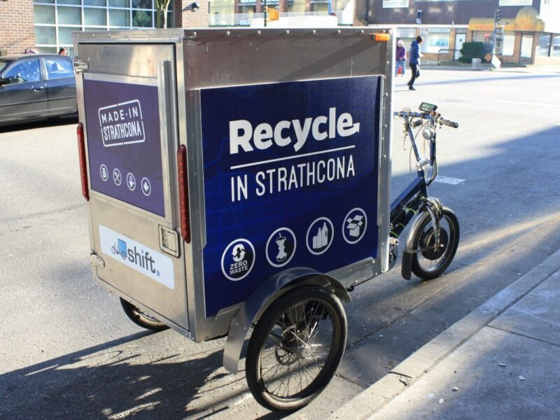Shift Delivery Trike used for the Recycle In Strathcona program.