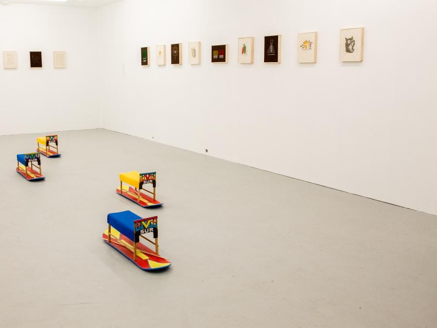 Artist Carlos Colín's exhibition La Cintura Cósmica del Sur at Fazakas Gallery