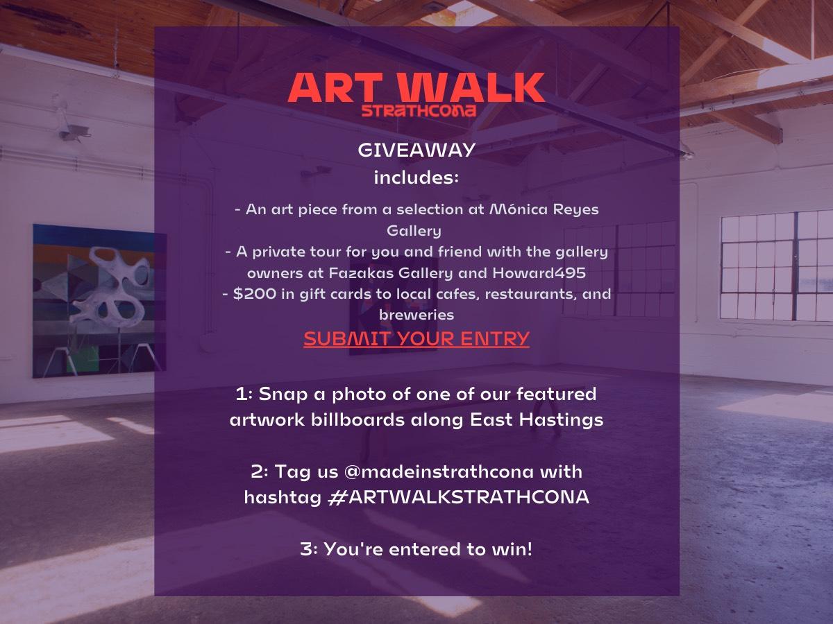 Art Walk Strathcona Giveaway Details