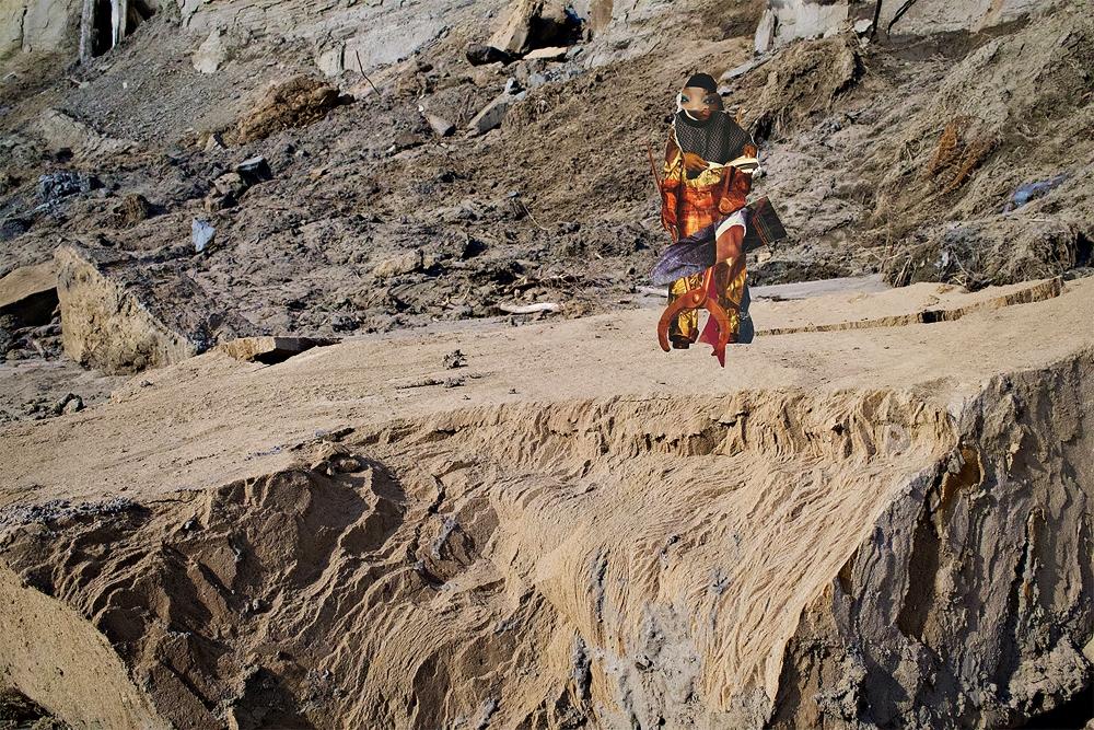 Art piece titled Miner in Brobdingnagian by Aaron Jones