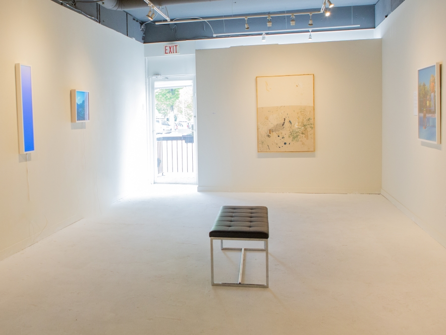 A View inside Mónica Reyes Gallery during a group exhibit.